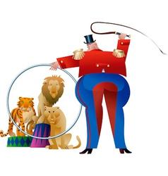 Circus tamer vector