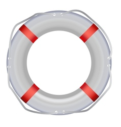 Life buoy isolated on white background vector