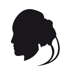 Silhouette a womans face vector