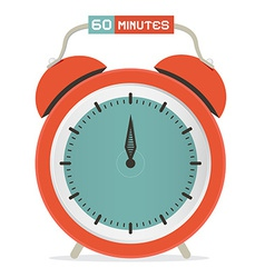 Sixty minutes stop watch - alarm clock vector