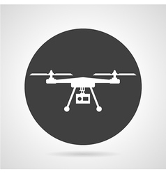 Drone black round icon vector