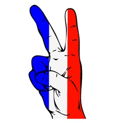 Peace sign of the french flag vector