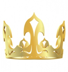 Gold royal crown vector