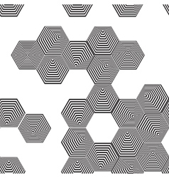 Volumetric 3d pyramid seamless pattern hexagon vector