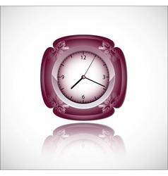 Red clock vector