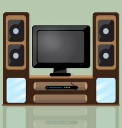Tv table vector