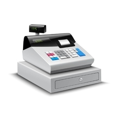 Cash register isolated vector