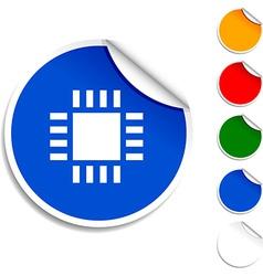 Cpu icon vector