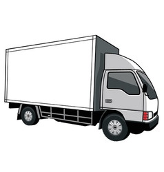 Cargo truck with blank space vector