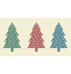 New year tree set vector