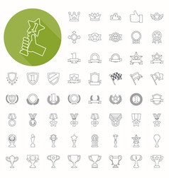 Prizes awards icons thin icon design vector