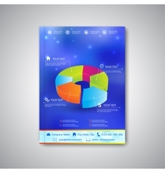 Modern template brochure magazine flyer booklet vector