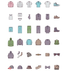 Men clothes set vector