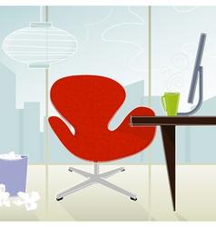 Retro-modern office vector