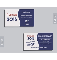 Brand identity elements - visiting card template vector