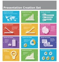 Presentation elements vector