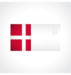 Envelope with danish flag card vector
