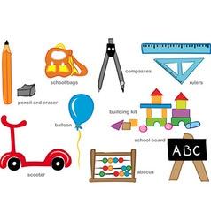 Kindergarten toys vector
