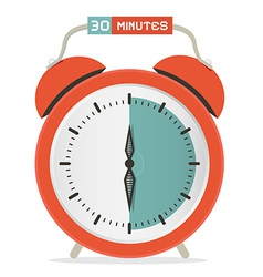 Thirty minutes stop watch - alarm clock vector
