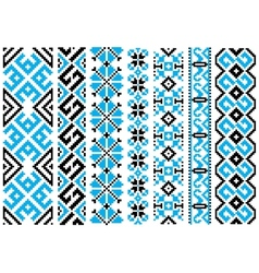 Ethnic embroidery ornaments seamless pattern vector