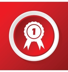 1st prize icon on red vector