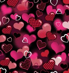 Hot valentine seamless background vector