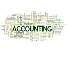Accounting word cloud green bubble tags tree vector
