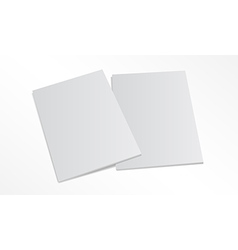 Two blank magazine covers isolated on white vector