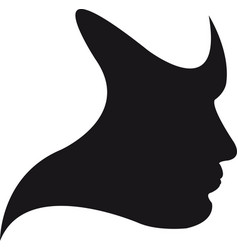 Silhouette face vector
