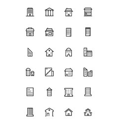 Buildings and furniture 3 vector