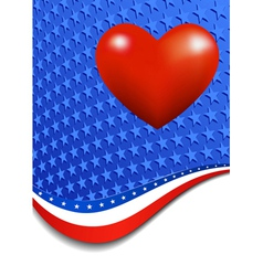 Stars and stripes portrait heart vector