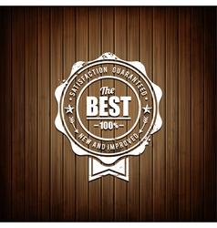 Premium seal wooden background vector