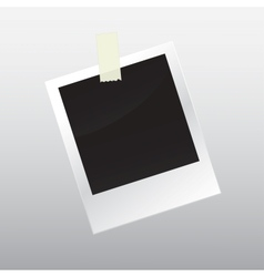 Photo frame with scotch tape vector