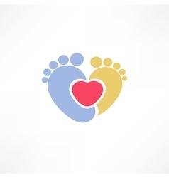 Baby foot vector