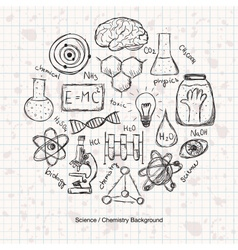 Chemistry science background vector
