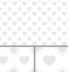 White vintage poker hearts distressed background vector