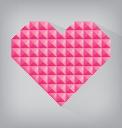 Pink retro heart triangle abstract love valentine vector