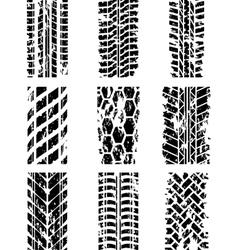 Tire tracks set vector