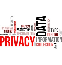 Word cloud data privacy vector