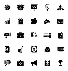 Data and information icons on white background vector