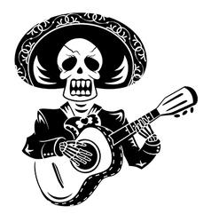 Mariachi guitar player vector