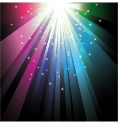 Colorful ray lights vector
