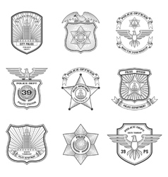 Police emblems set vector