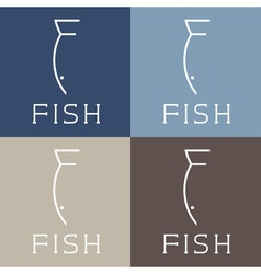 Fish monogram vector
