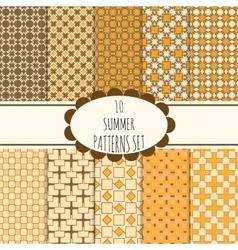 10 summer seamless patterns set vector