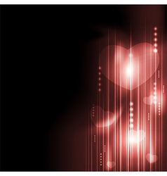 Valentines day romantic heart with technology vector