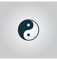 Ying-yang icon of harmony and balance vector