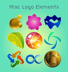 Graphic logo elements vector