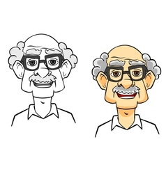Cartoon senior man vector