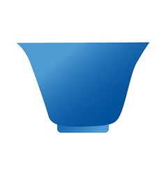 A bowl is placed vector